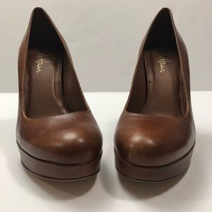 Cole Haan Nike Air Tan Leather Pumps Size 8.5B